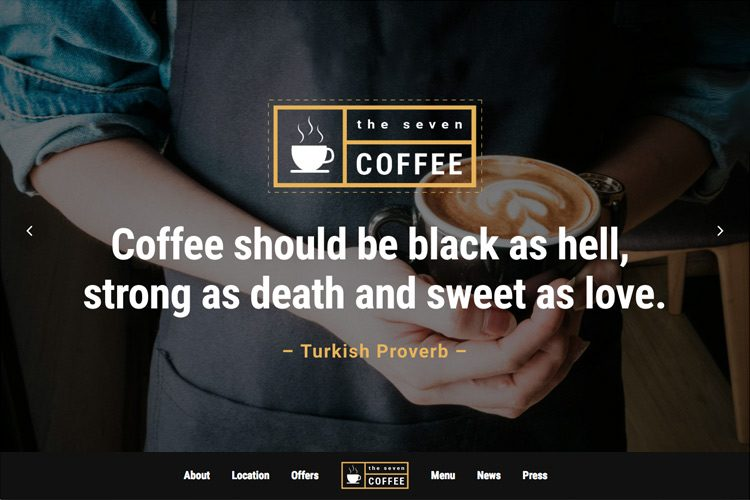 咖啡店网站