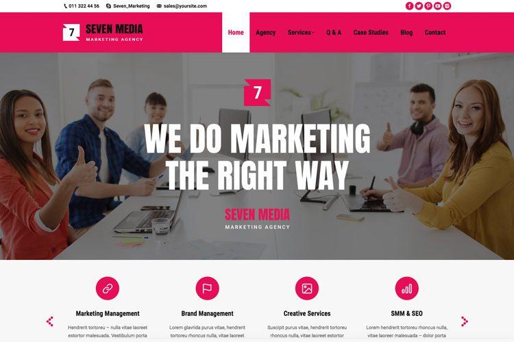 营销机构网站